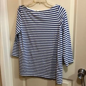 Large COS blue and white striped boatbeck tee